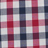 Navy red gingham