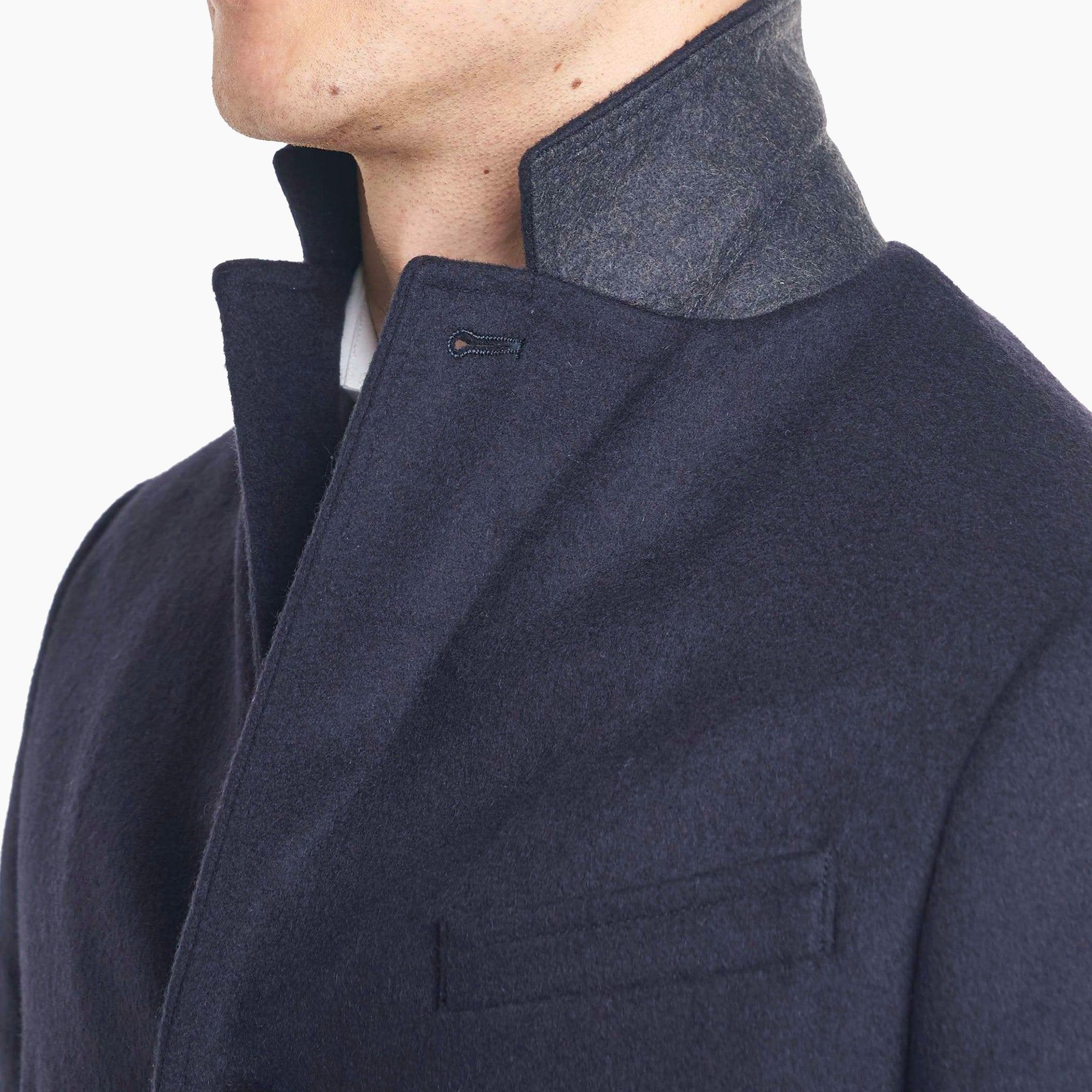 Fulton Wool Cashmere Topcoat - Navy