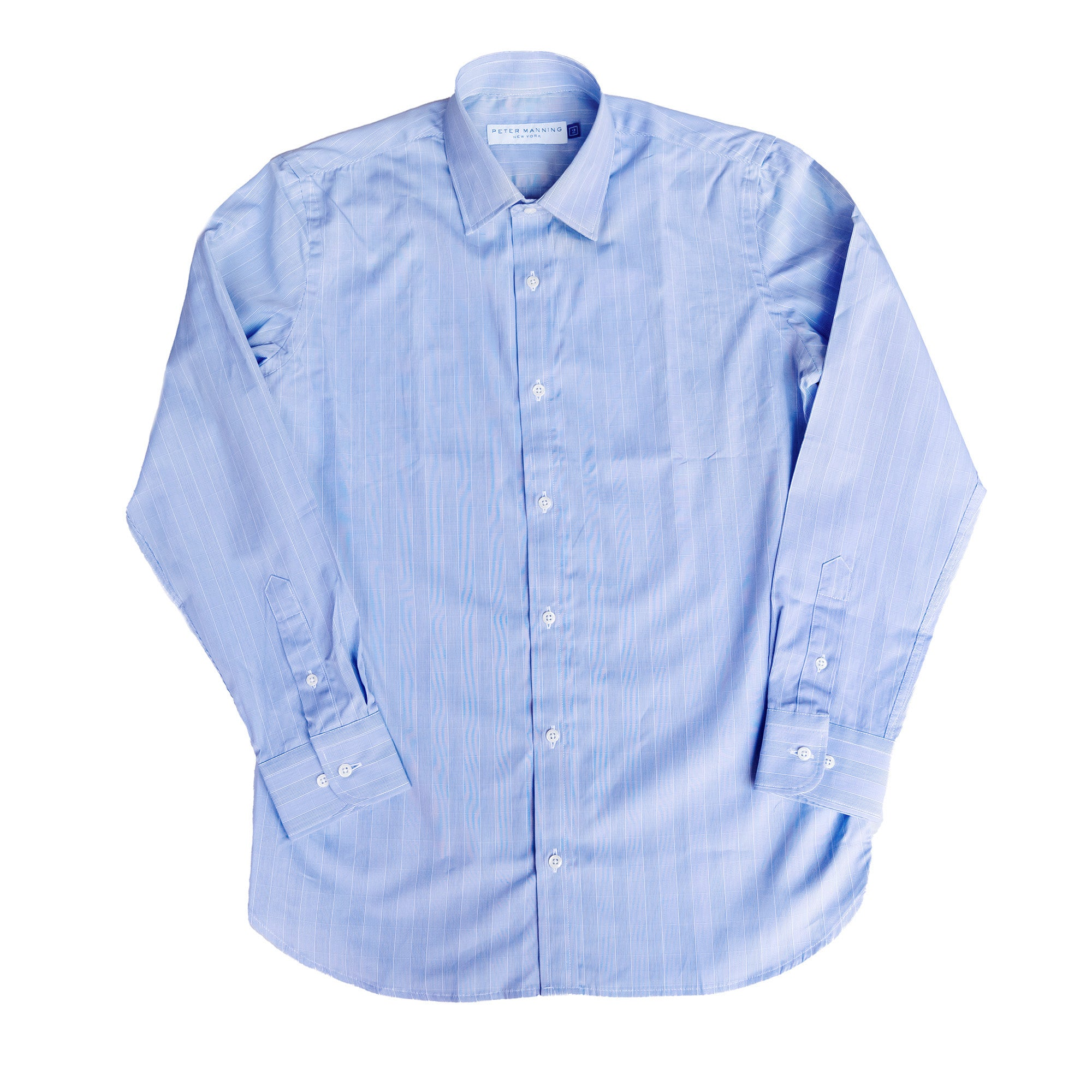 Premium Dress Shirt Standard Fit - Blue Plaid