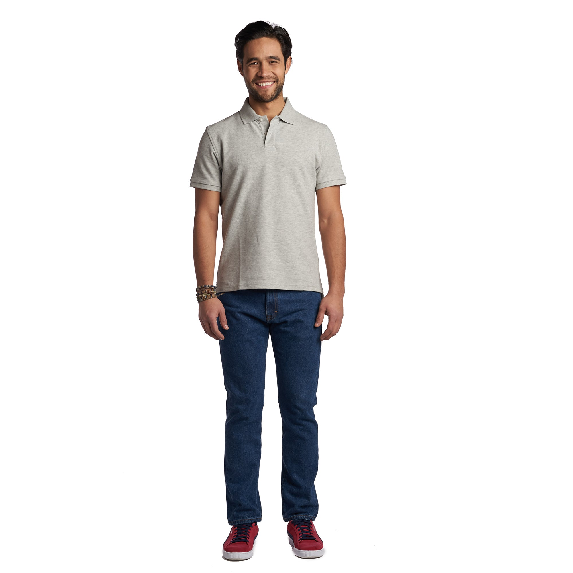James Polo Shirt - Heather Grey