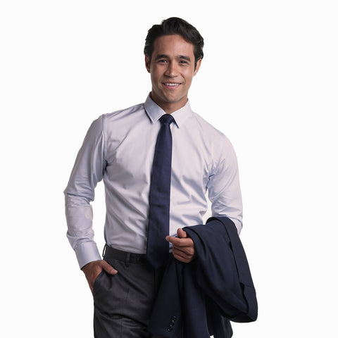 Premium Dress Shirt Slim Fit - Blue