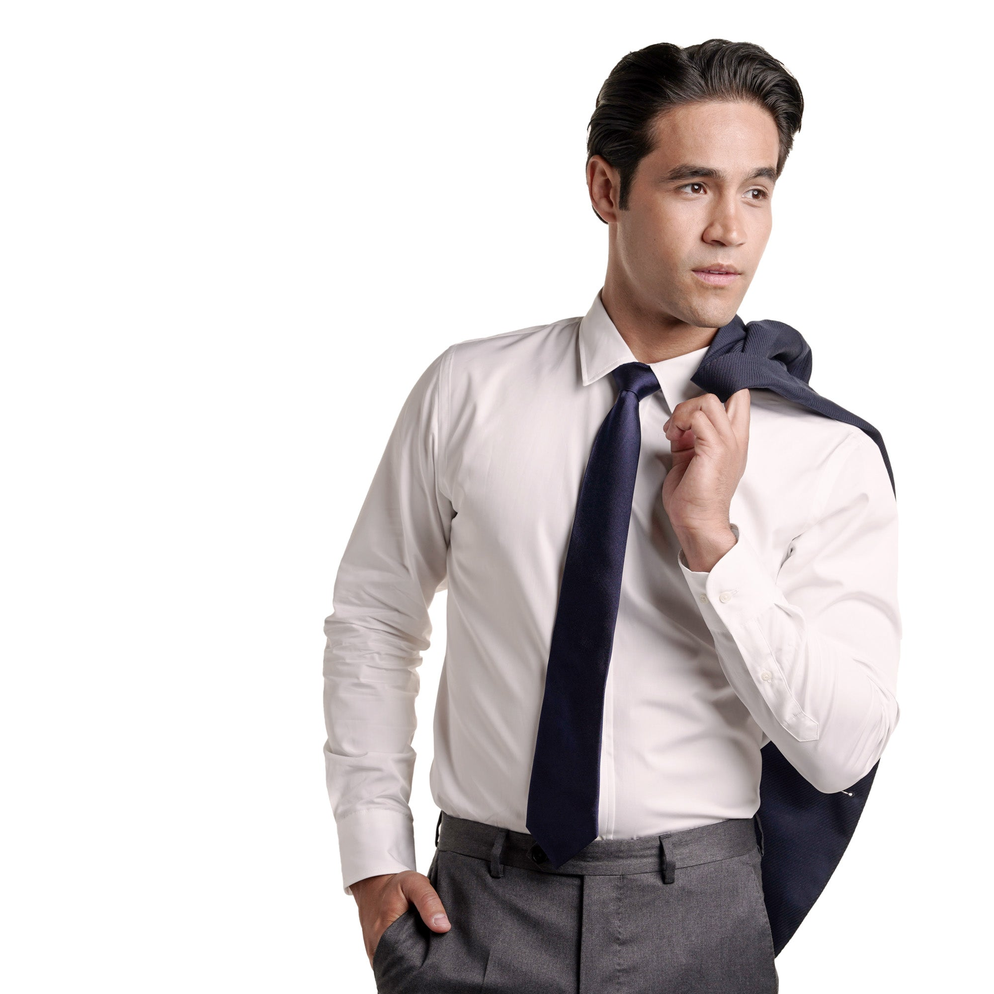 Premium Dress Shirt Standard Fit - White