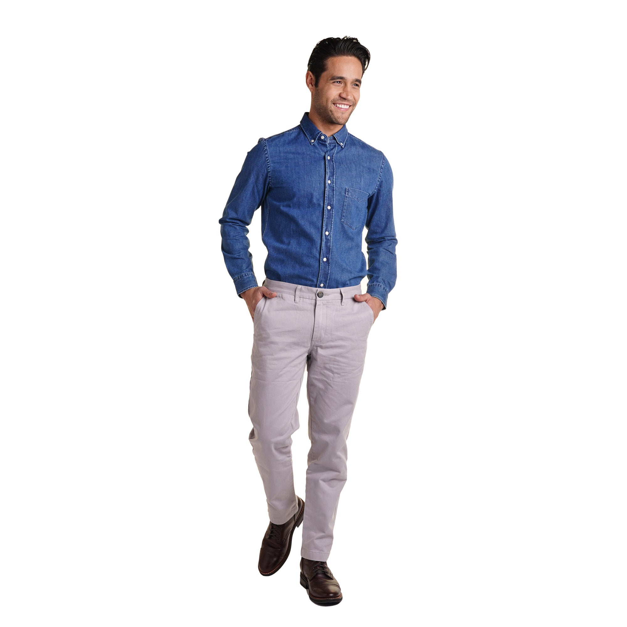 Standard (Classic) Fit Chinos - Grey