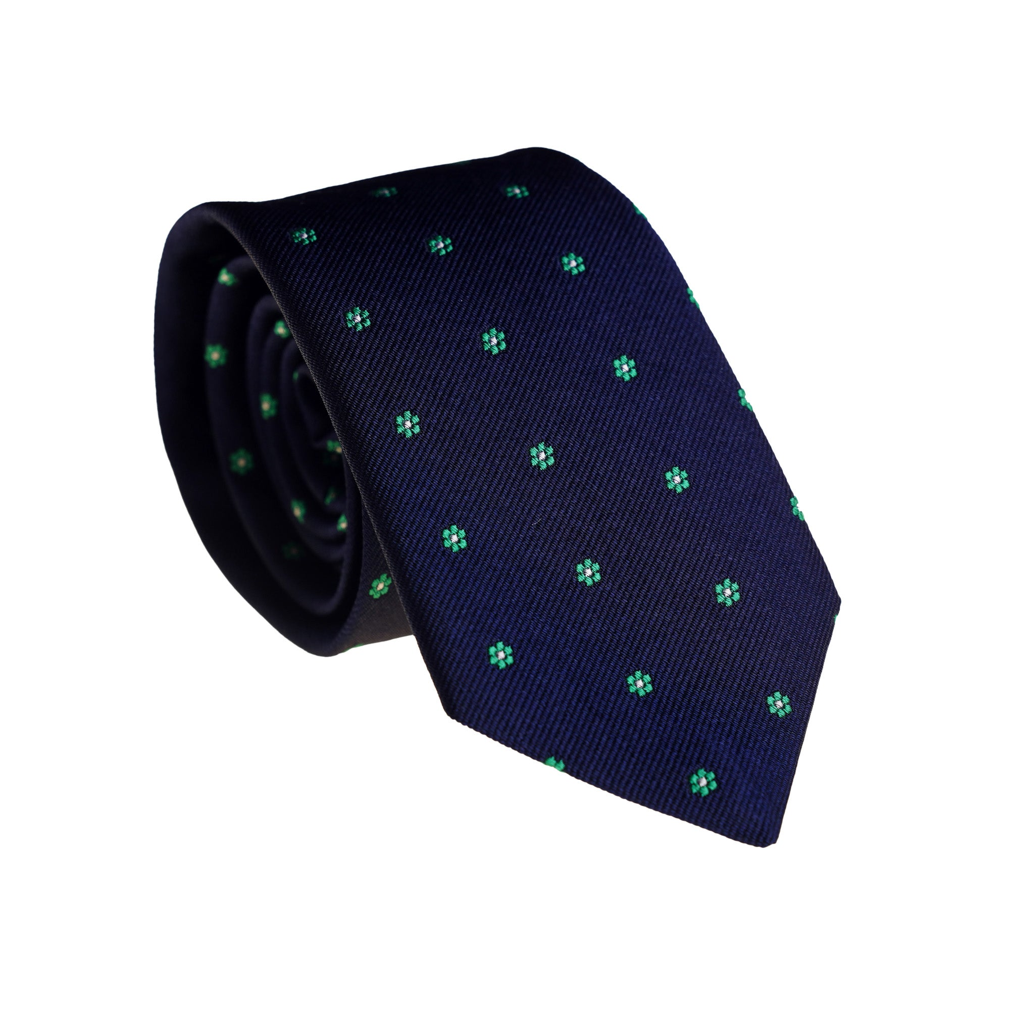 Ties - Navy Flower