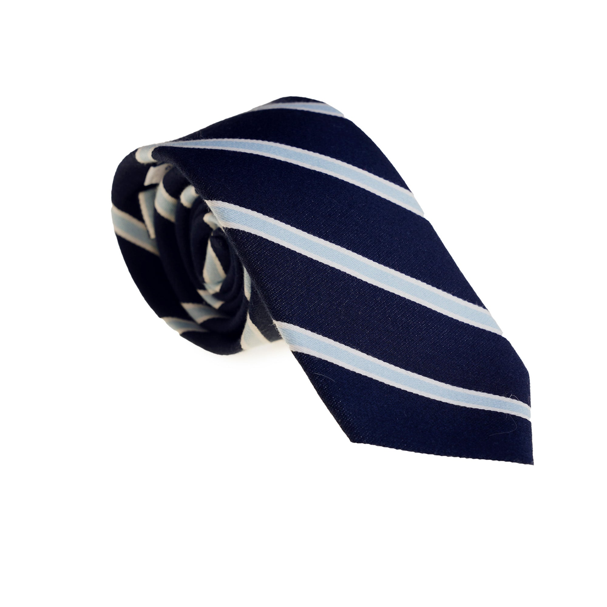 Ties - Navy Blue Stripe