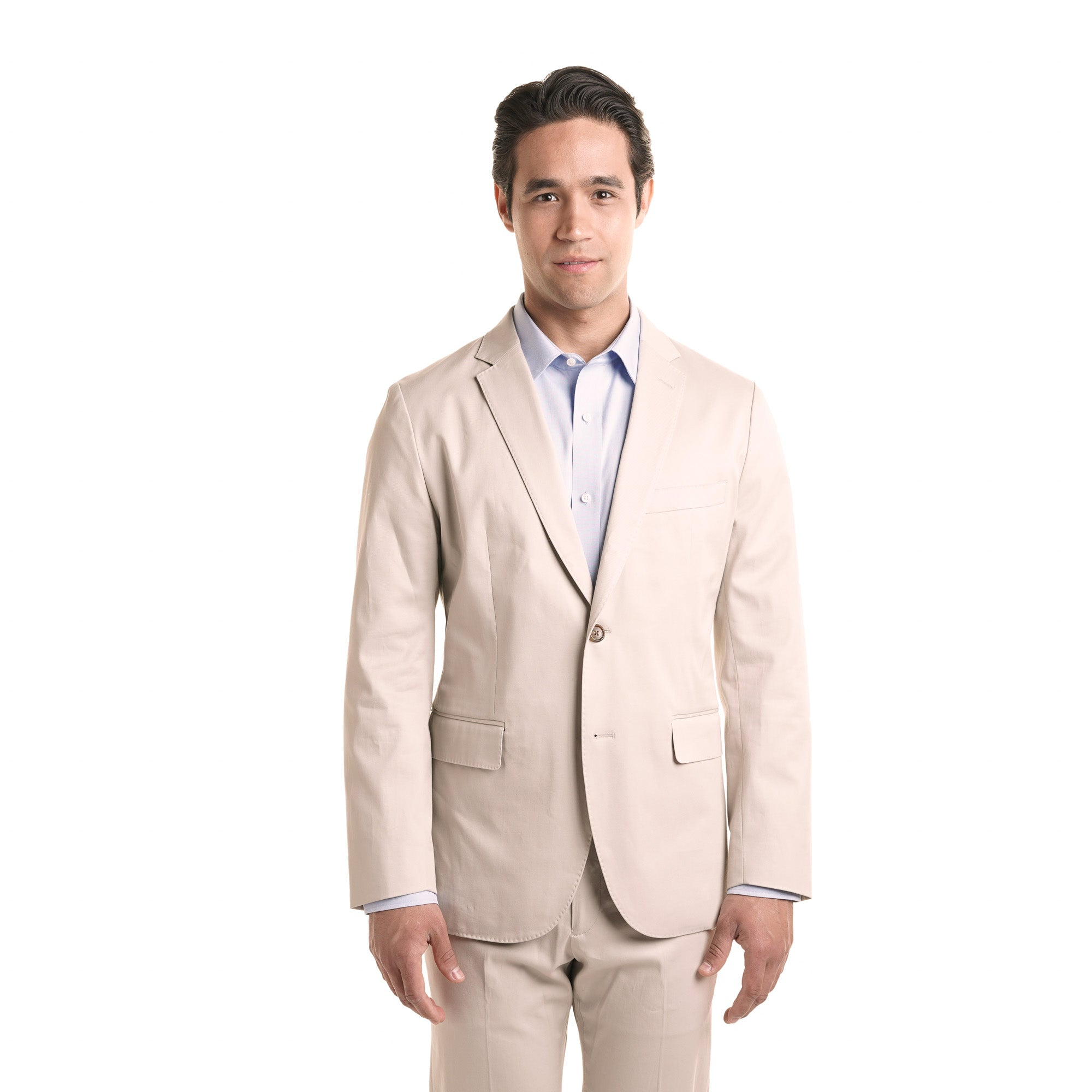 Slim Stretch Cotton Jacket - Light Khaki