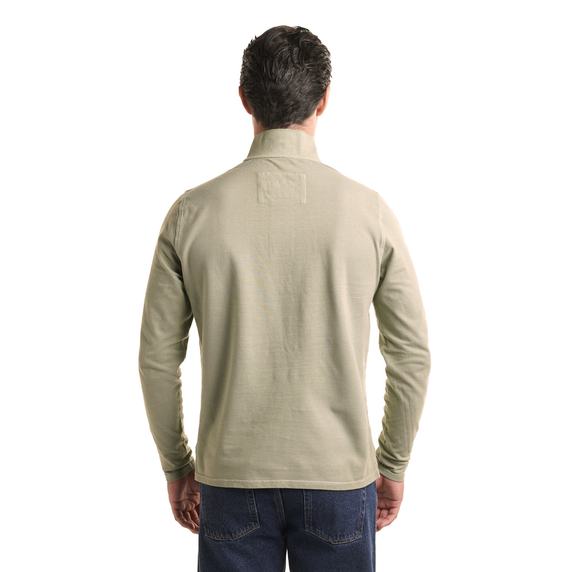 Long Sleeve Polo - Moss