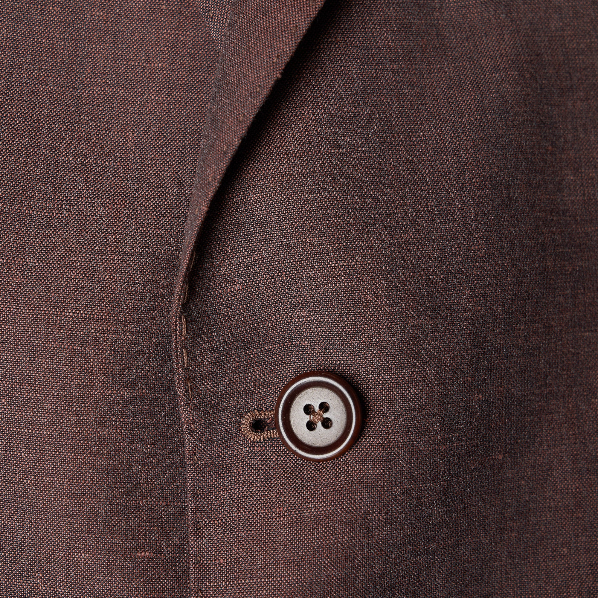 Unstructured Linen Jackets - Brown