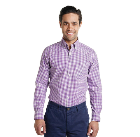 Everyday Shirts Slim Fit - Purple Gingham