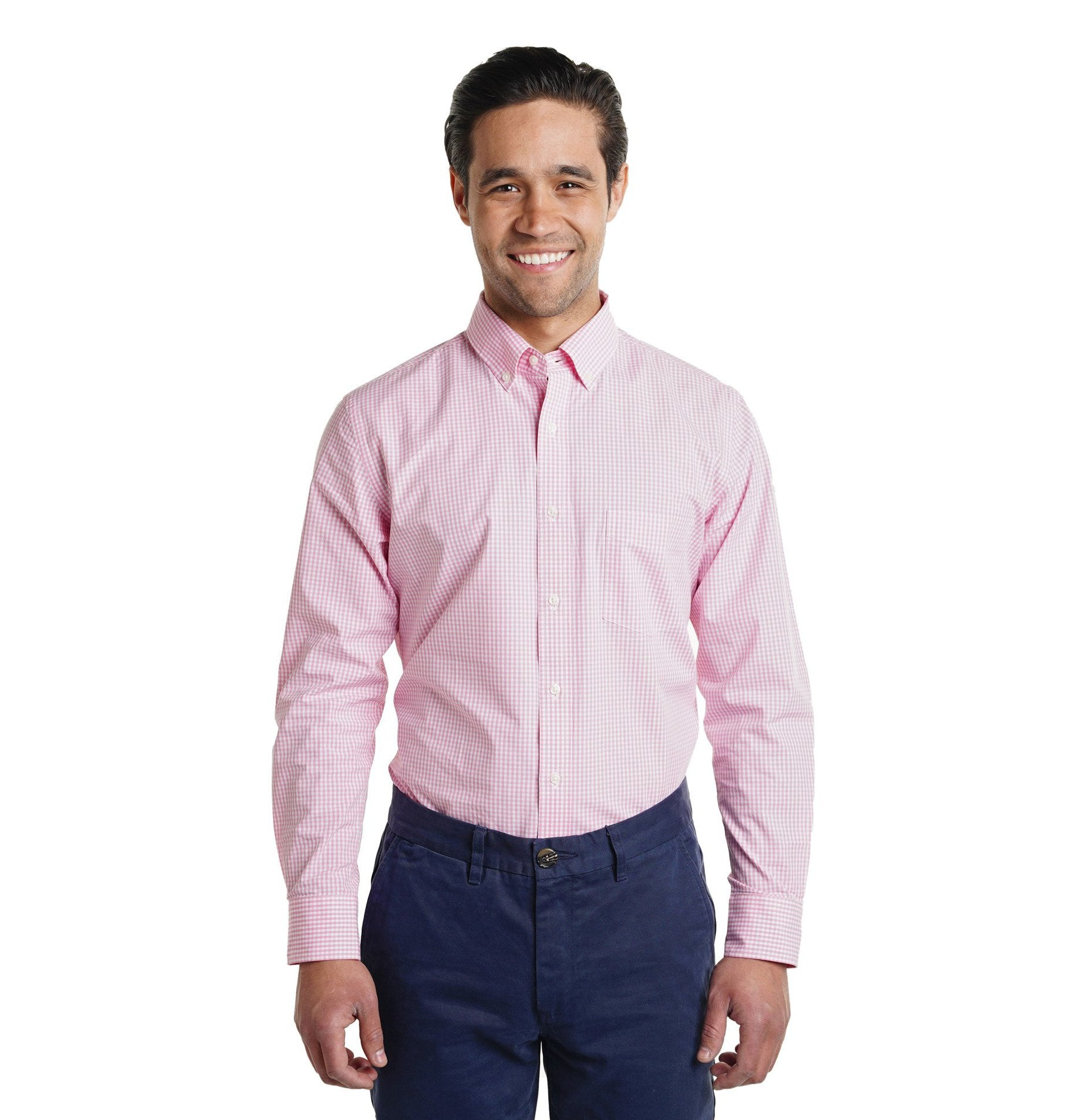 Everyday Shirt Slim Fit - Pink Gingham