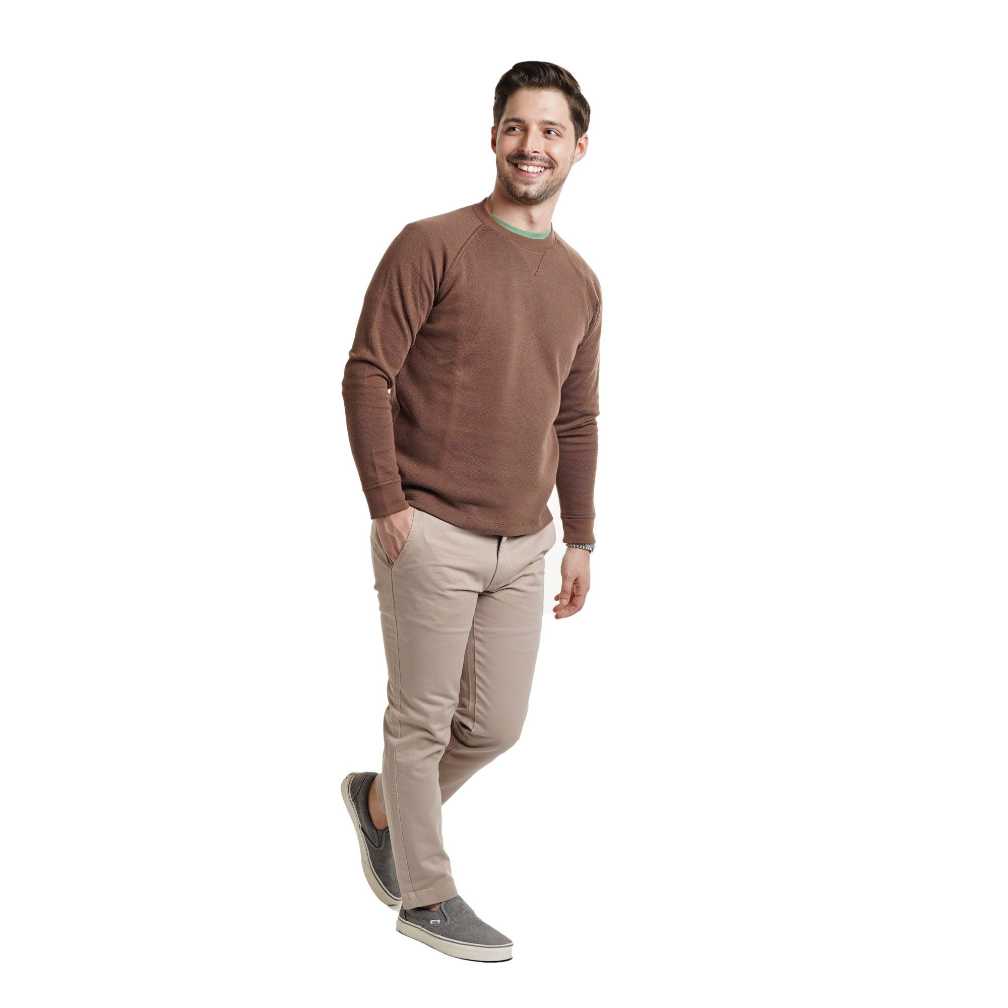 Cotton Pullovers - Brown
