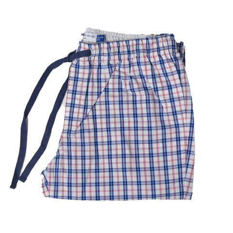 Pajama Pants - Red Blue Check