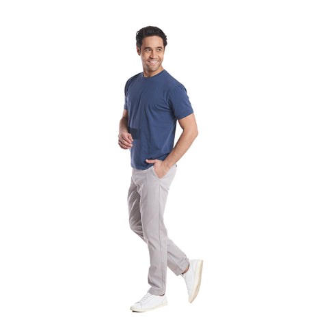 Lightweight Stretch Chinos Standard Fit - Grey