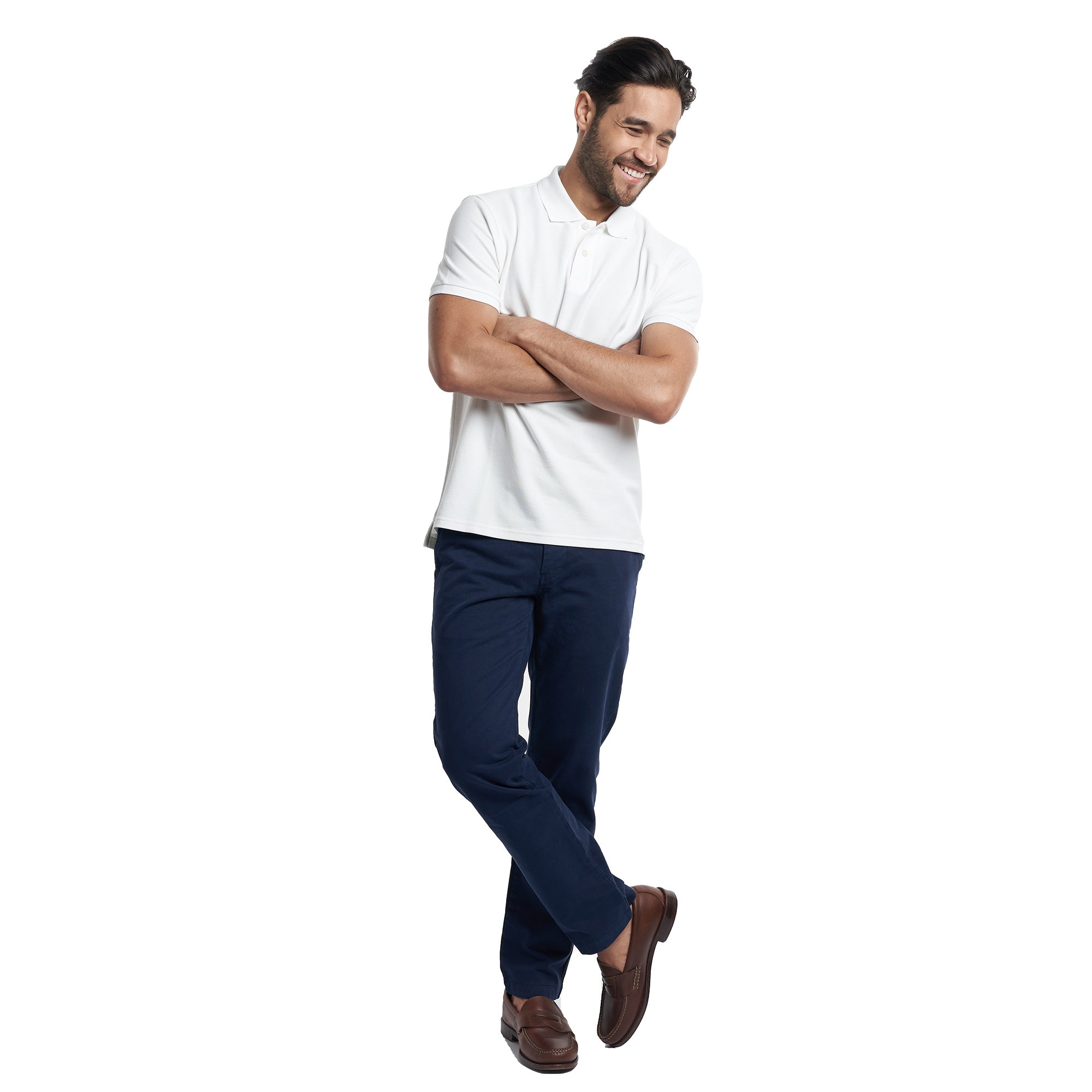 Classic Fit Chinos - Navy