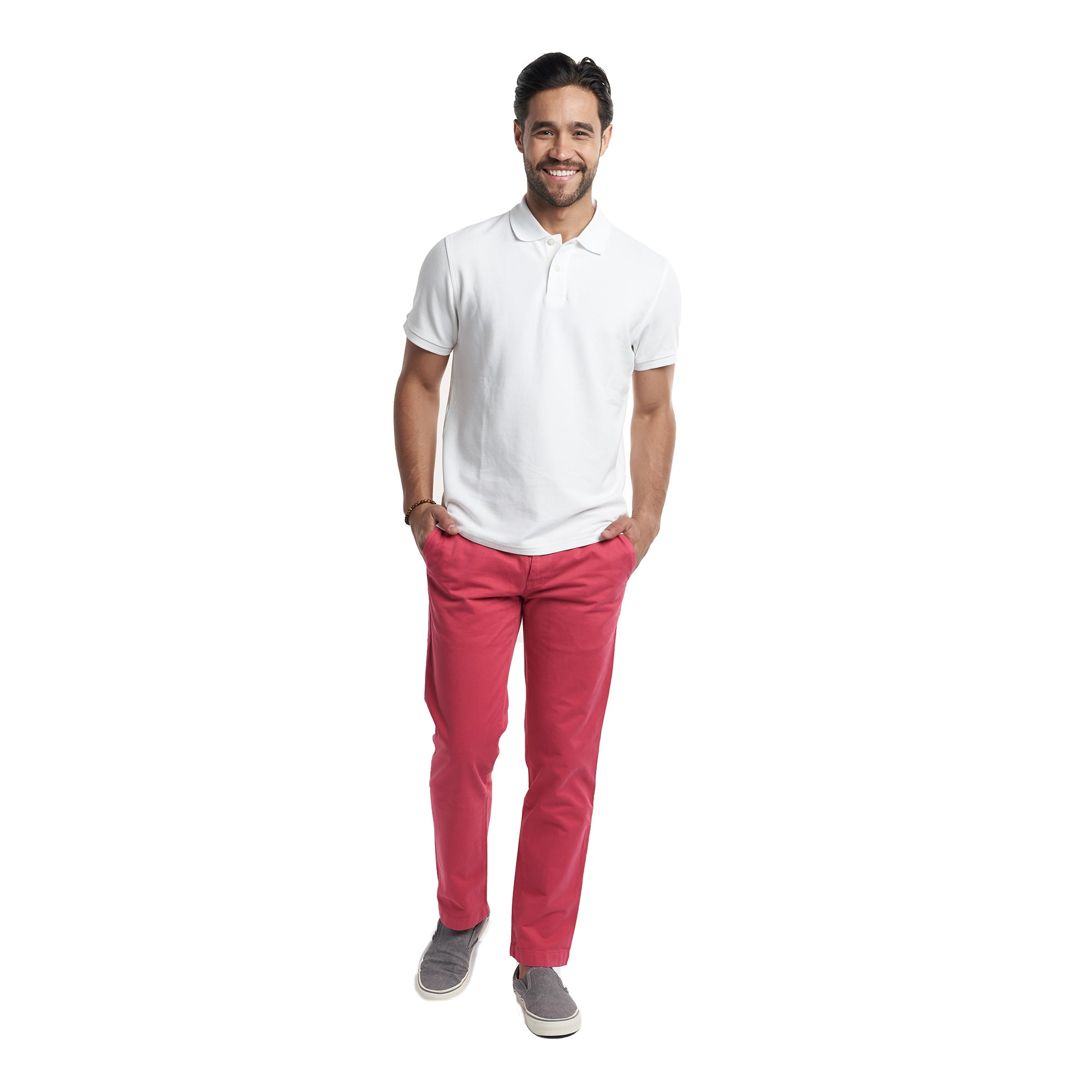 Standard (Classic) Fit Chinos - Ruby