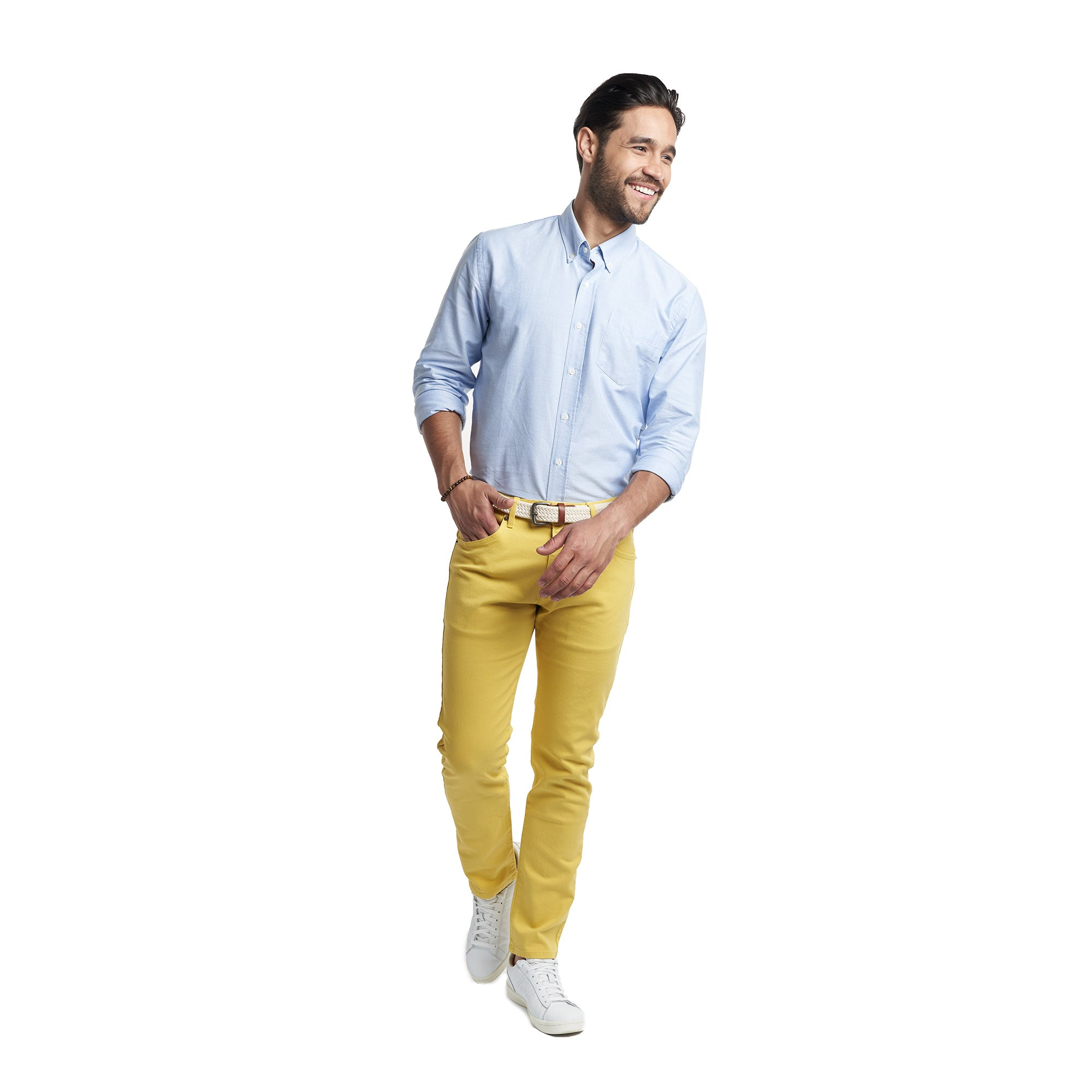 5-Pocket Stretch Twills - Mustard