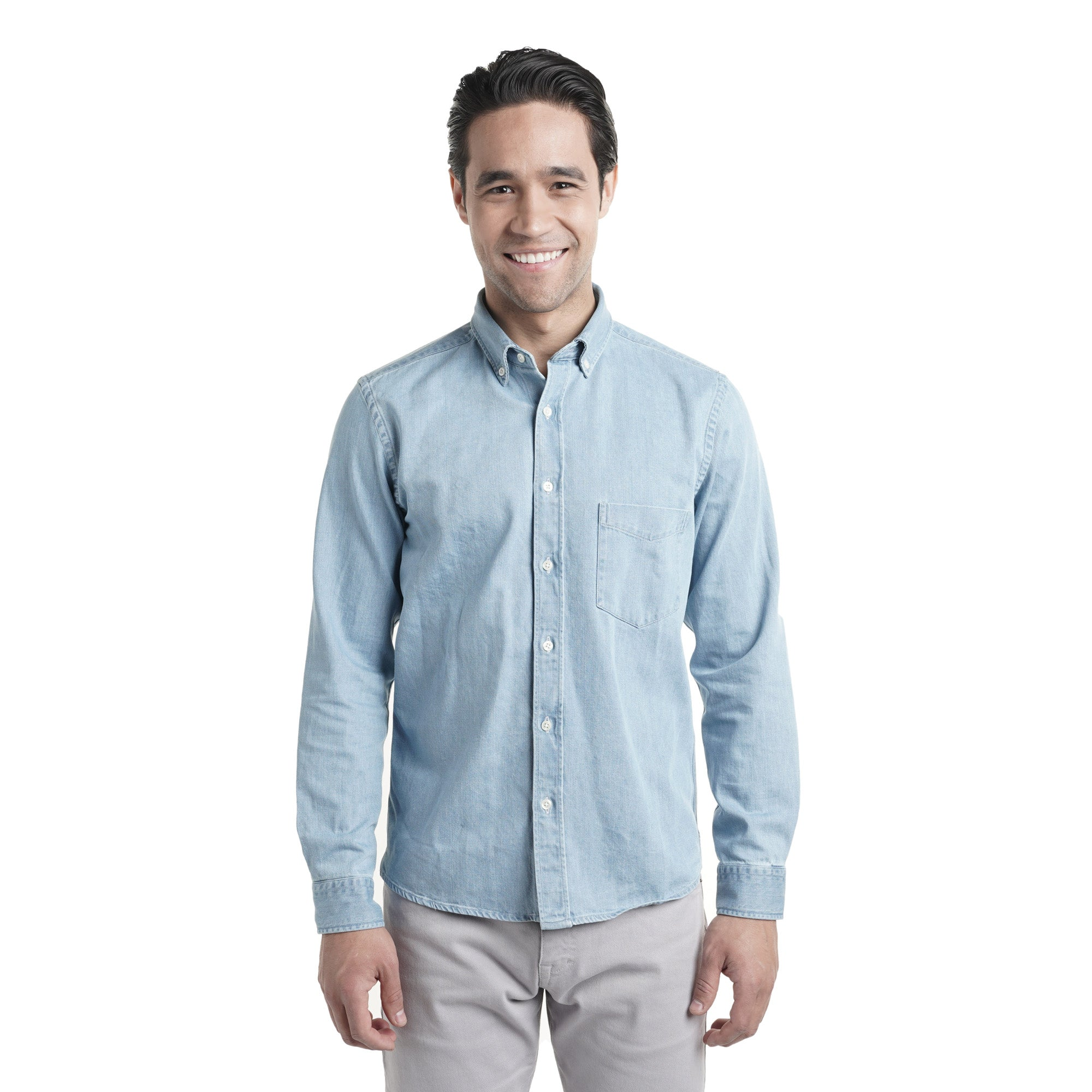 Denim Shirts Slim Fit - Light Wash