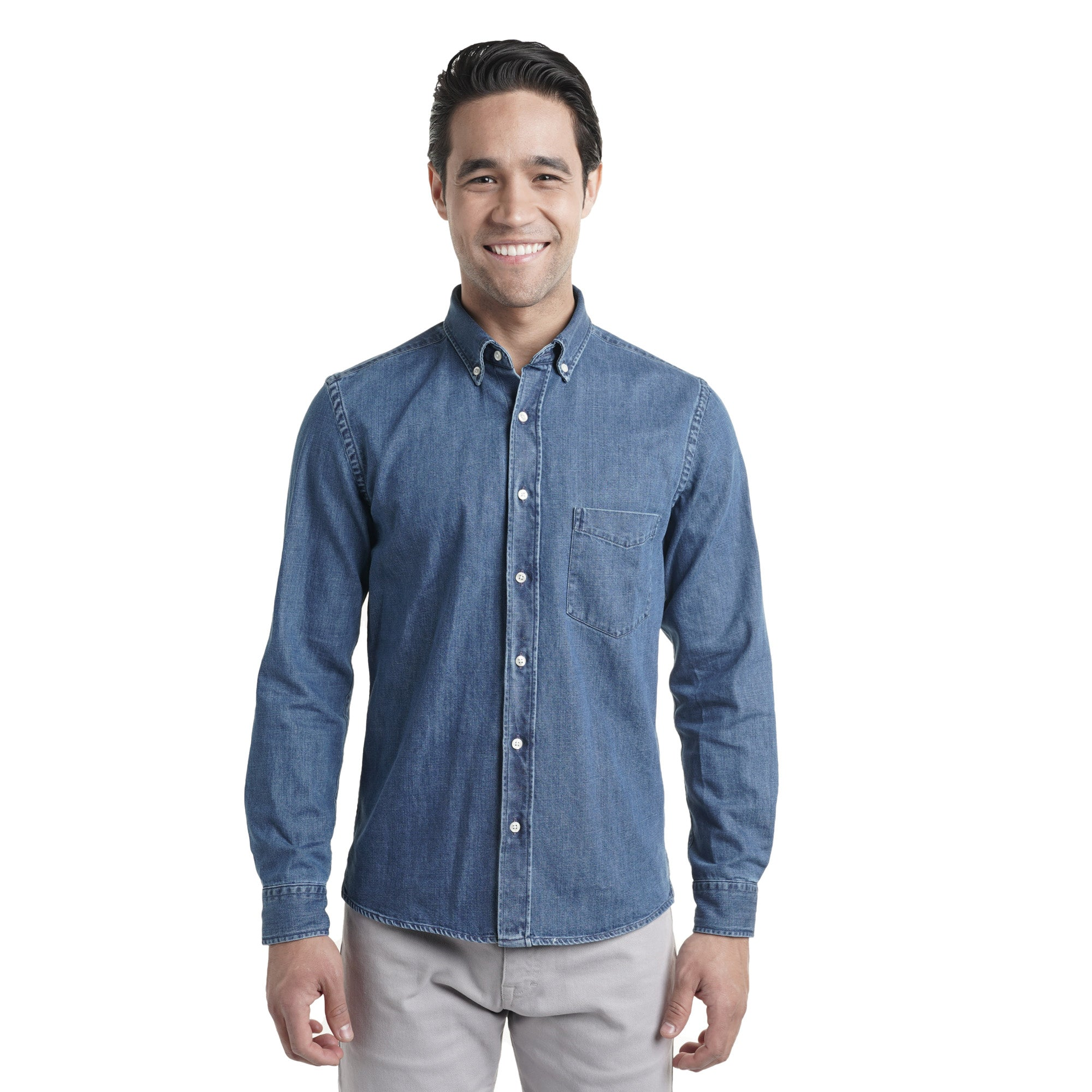 Denim Shirts Slim Fit - Medium Wash