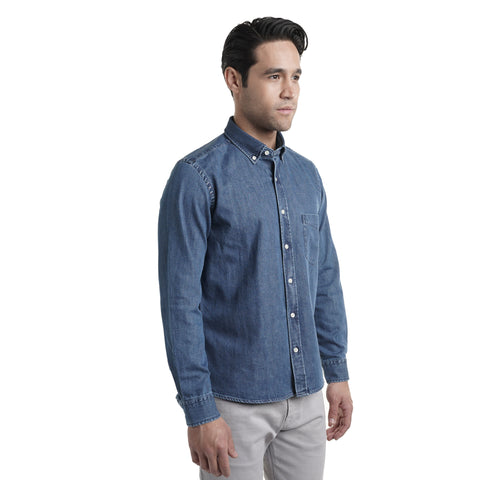 Denim Shirts Standard Fit - Medium Wash