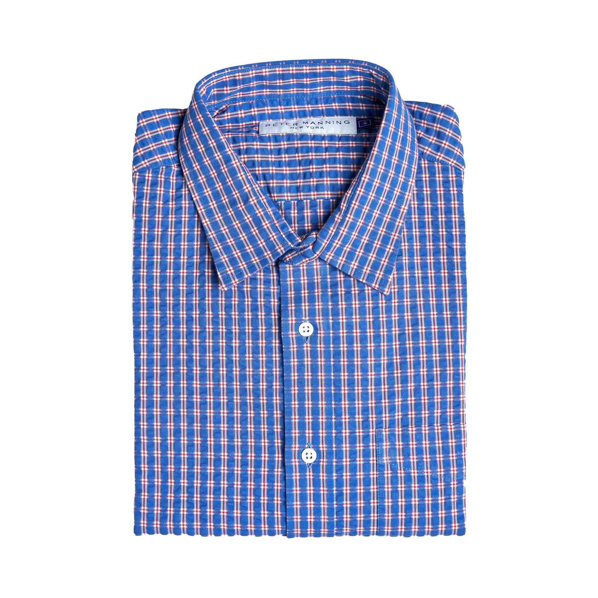 Everyday Shirts Standard Fit - Navy Red Check Seersucker