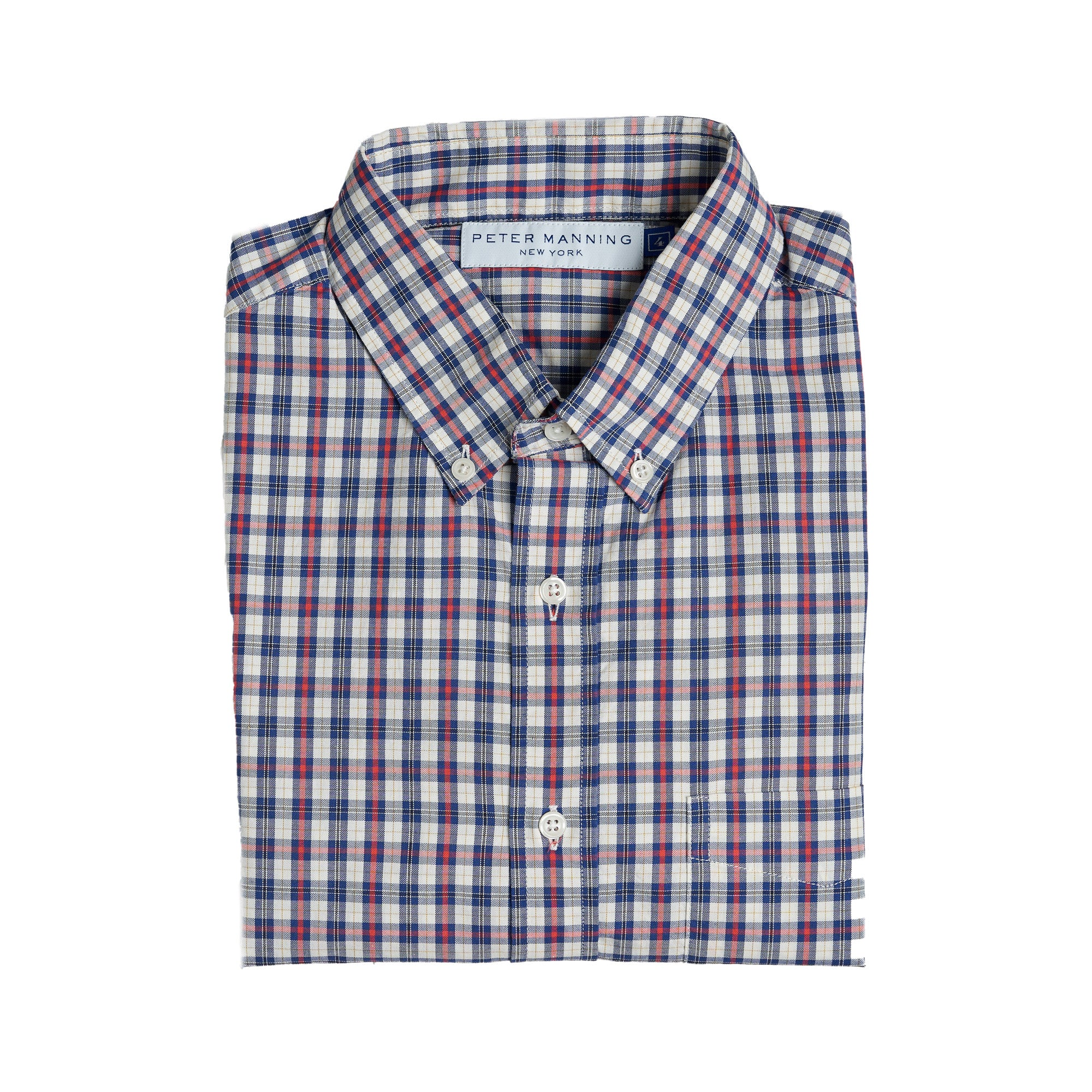 Everyday Oxford - Navy Red Tattersall