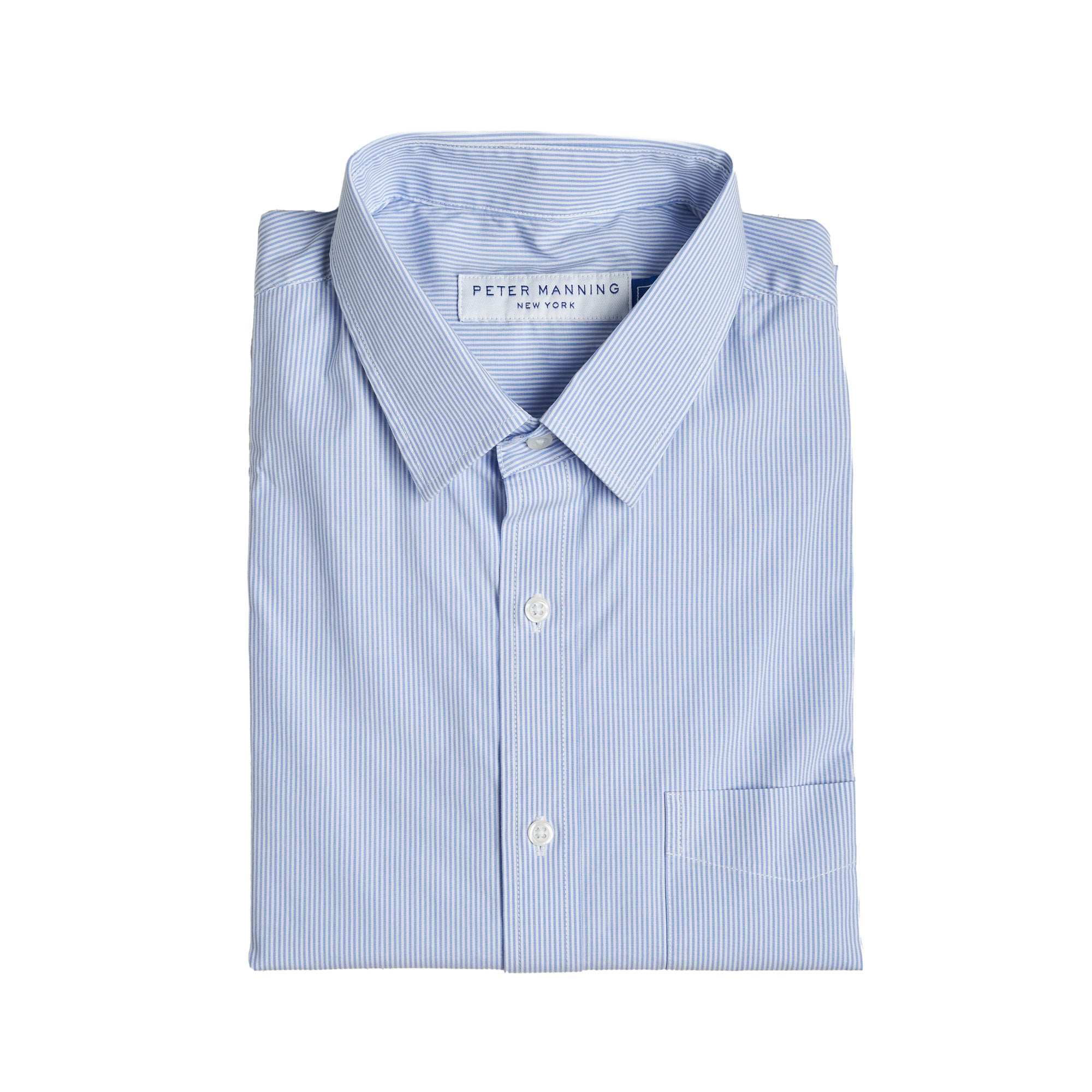 Everyday Stretch Shirts - Blue Pinstripe
