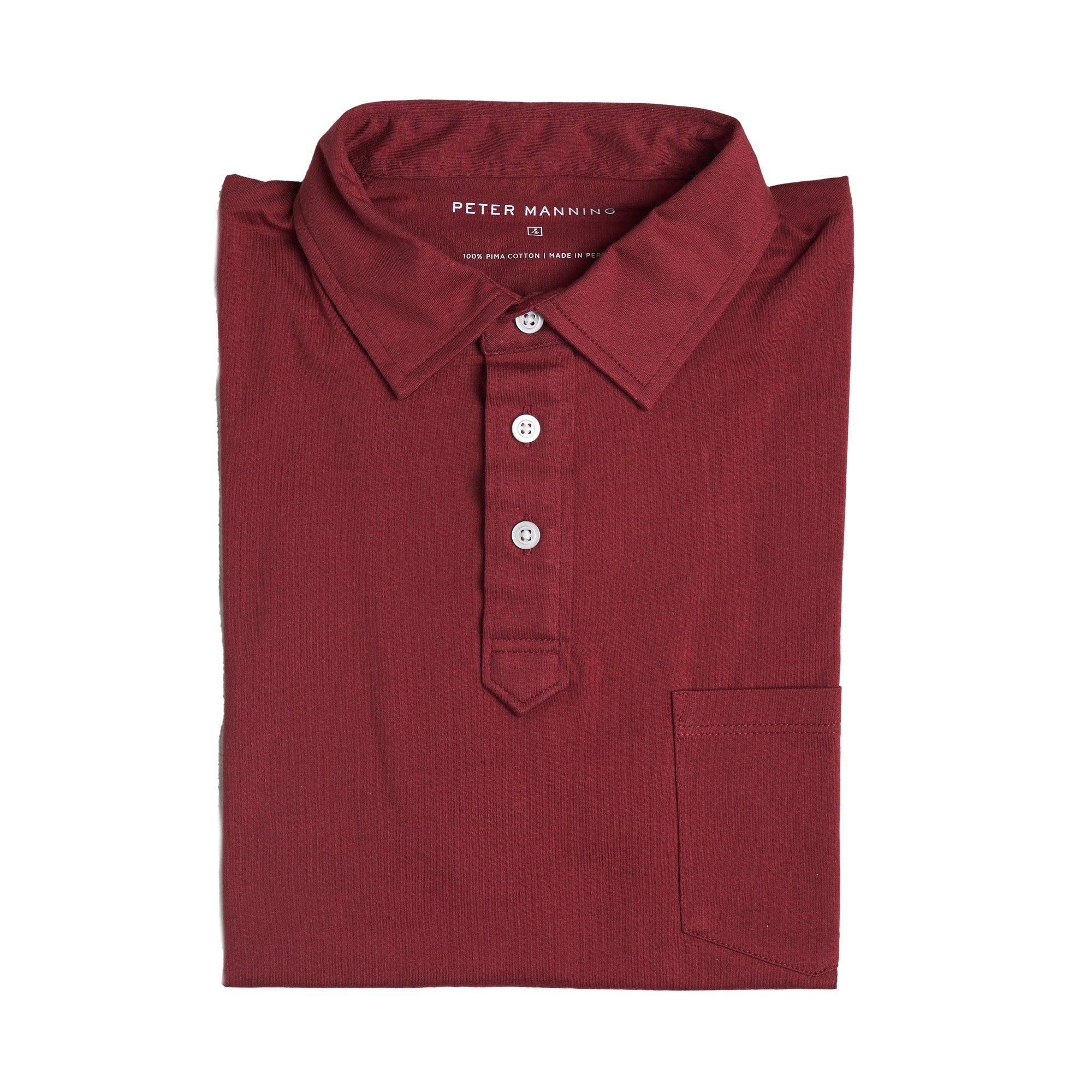 Pocket Polo - Burgundy