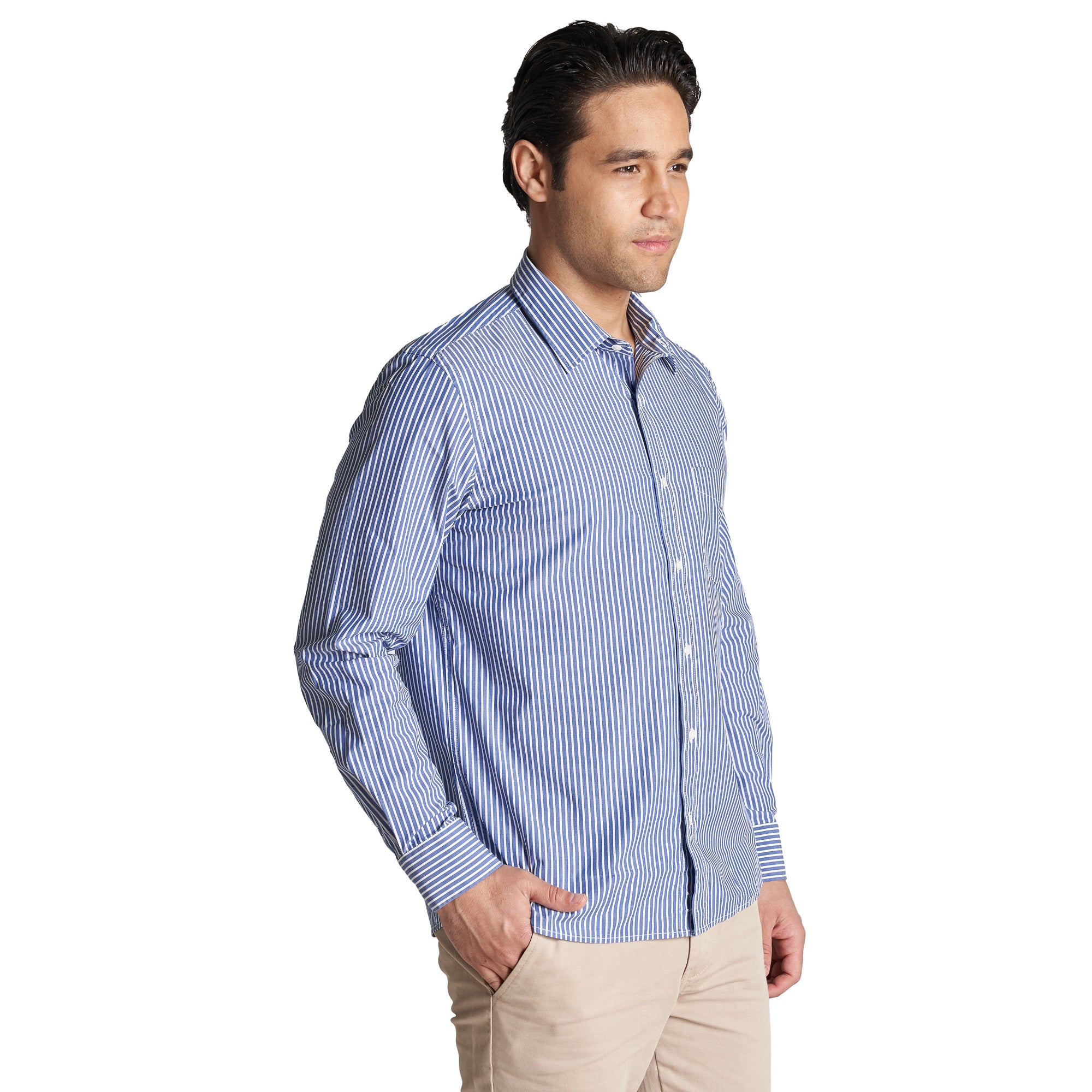 Everyday Stretch Shirts - Navy Stripe