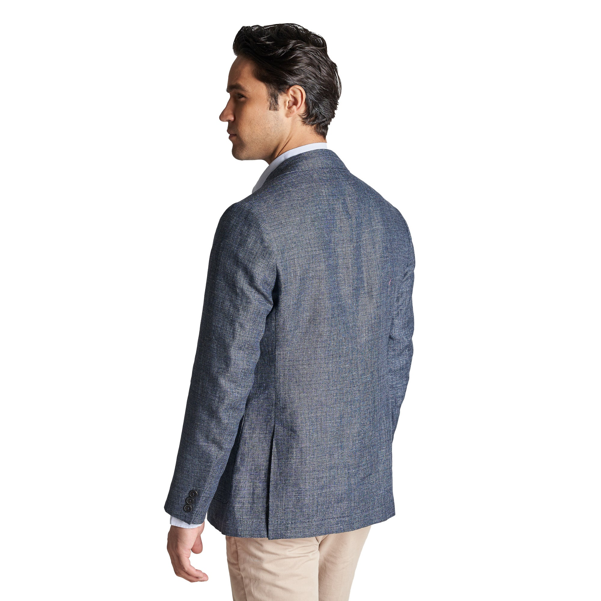 Unstructured Linen Jackets - Navy