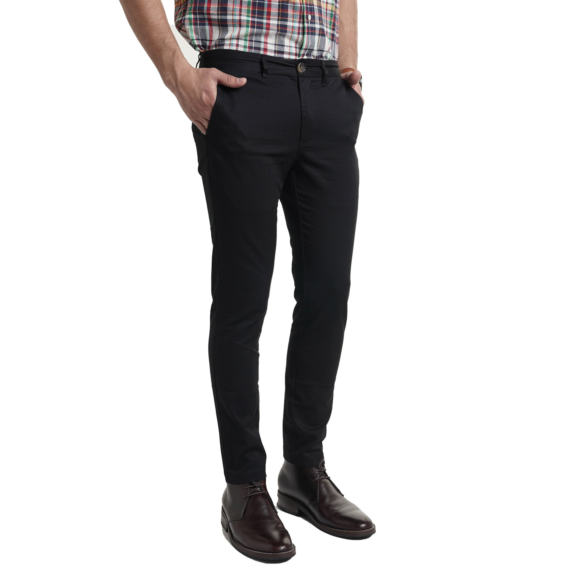 Lightweight Stretch Chinos - Black