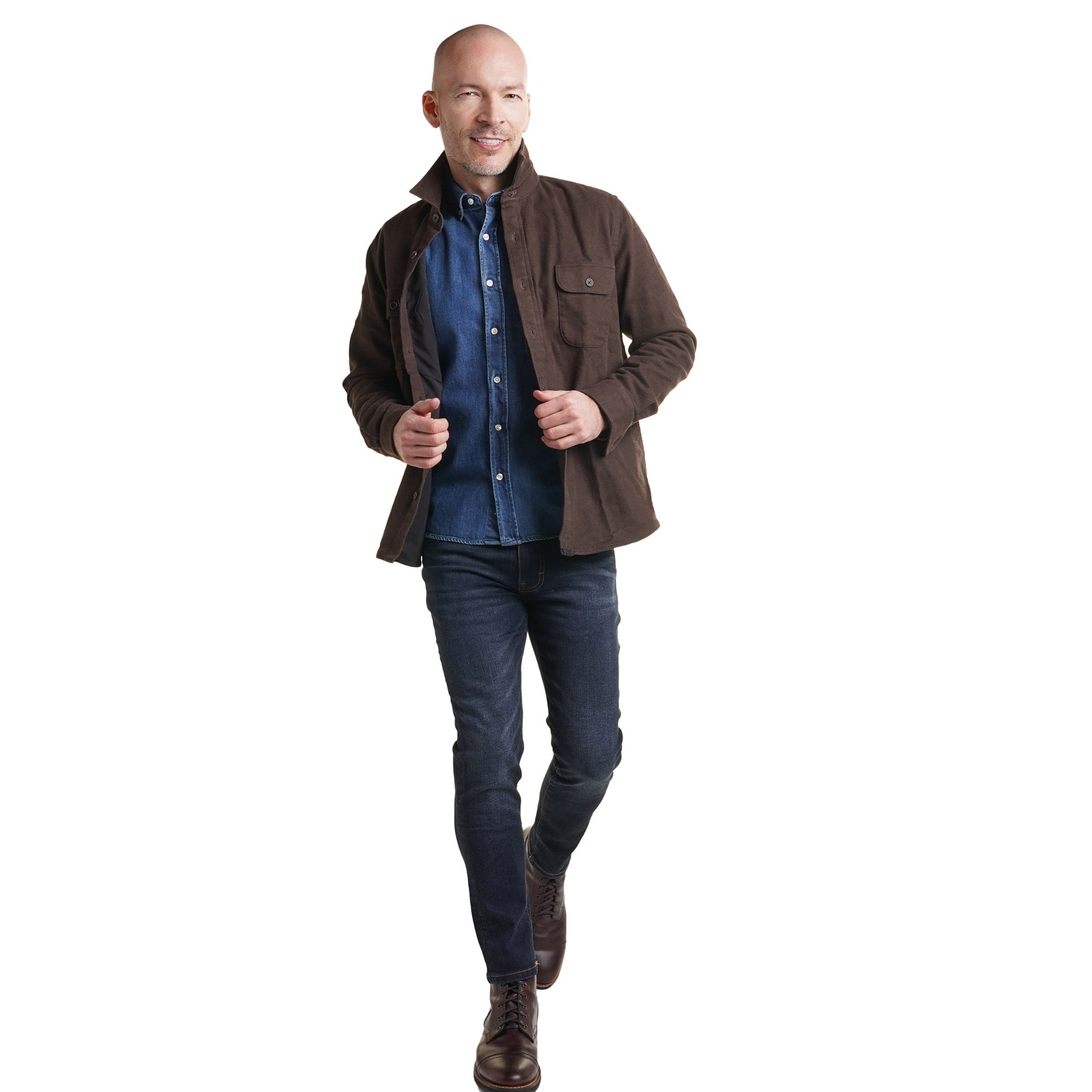 Flannel Shirt Jackets - Brown