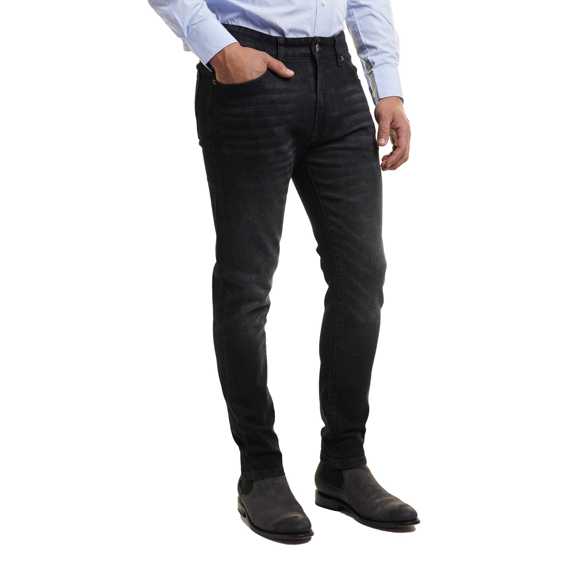 Johnny Stretch Jeans Slim Fit - Black