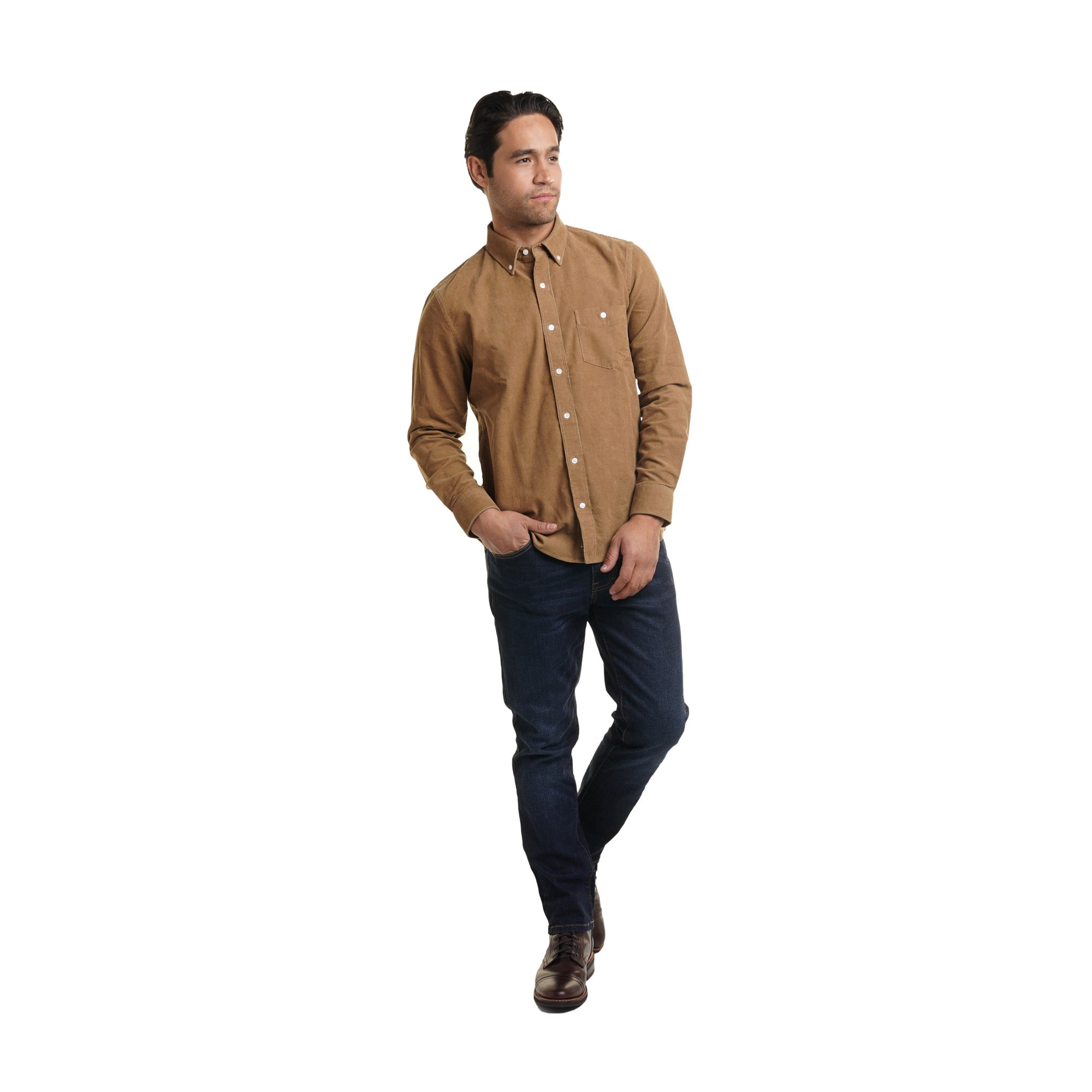 Corduroy Shirts - Tan