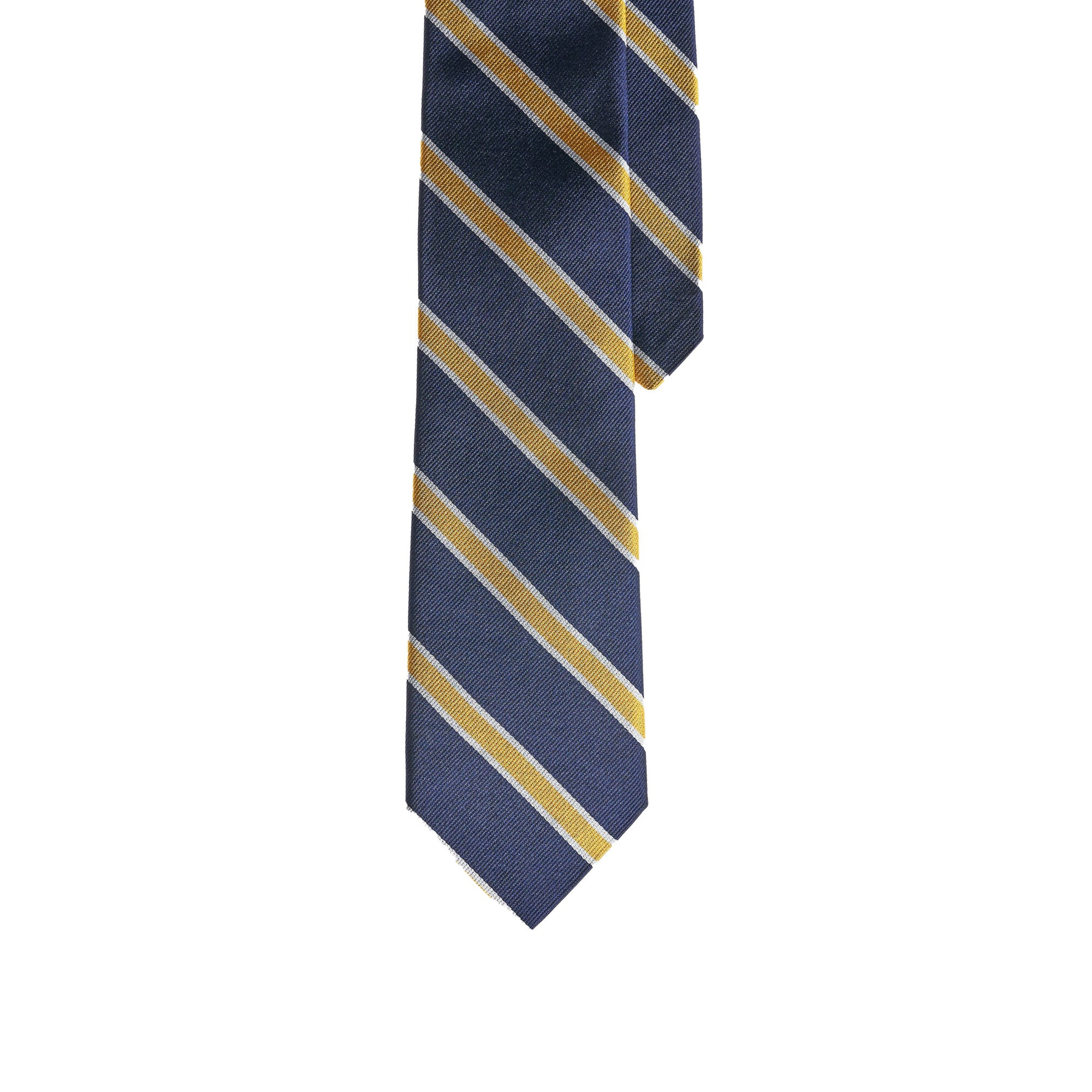 Ties - Navy Gold Stripe