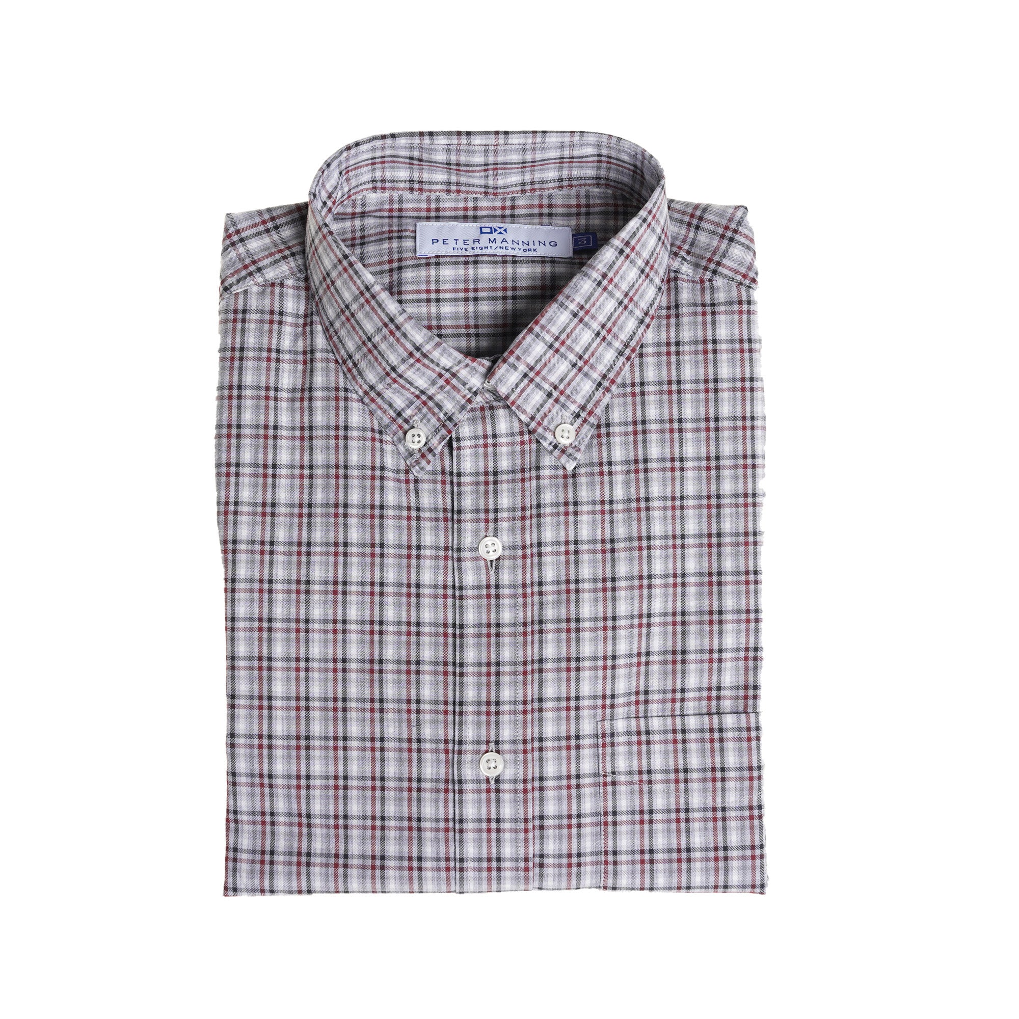 Everyday Oxford -  Grey Red Tattersall