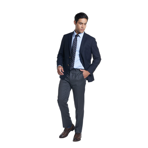 Non Iron Dress Shirt Slim Fit - Blue