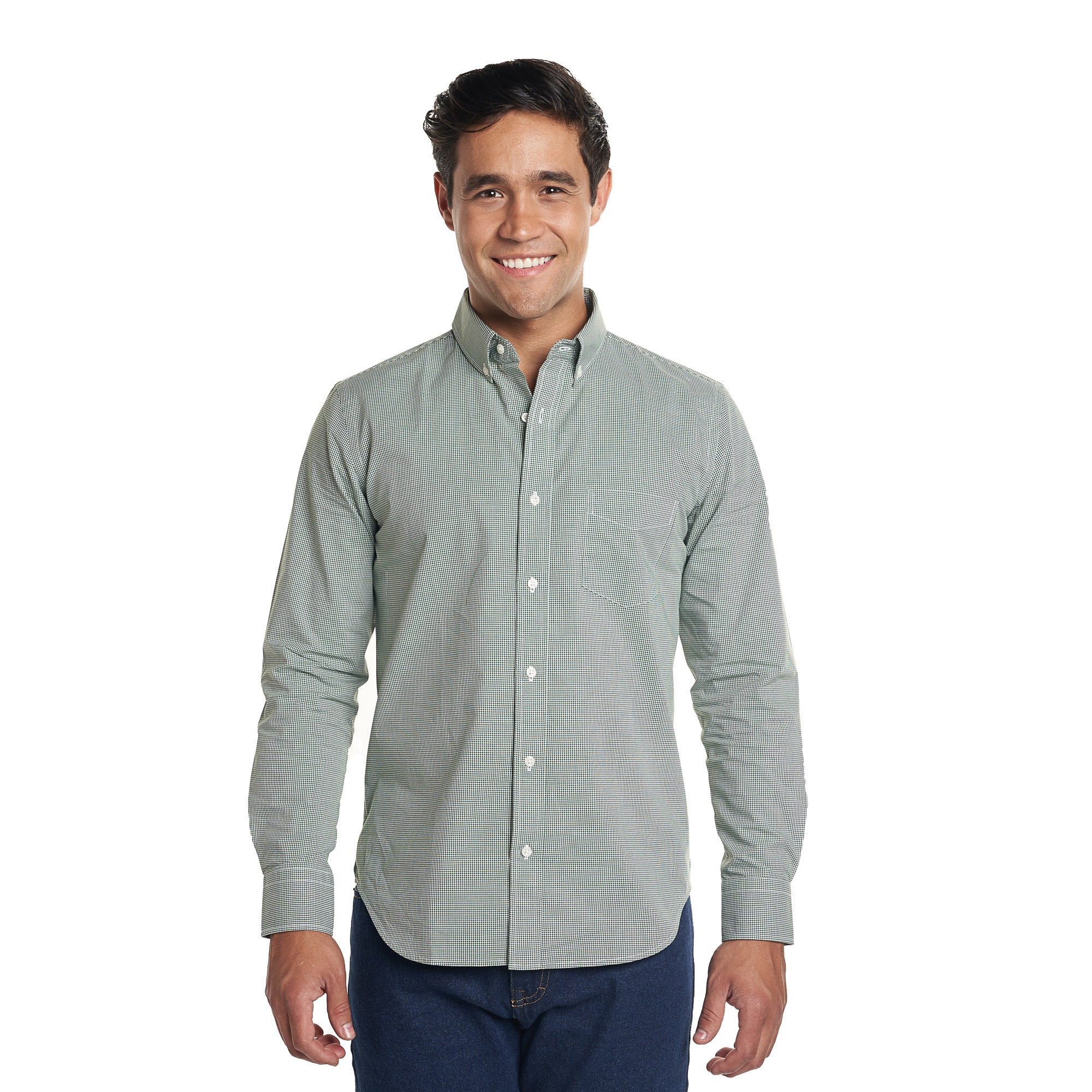 Everyday Shirt - Green Microcheck
