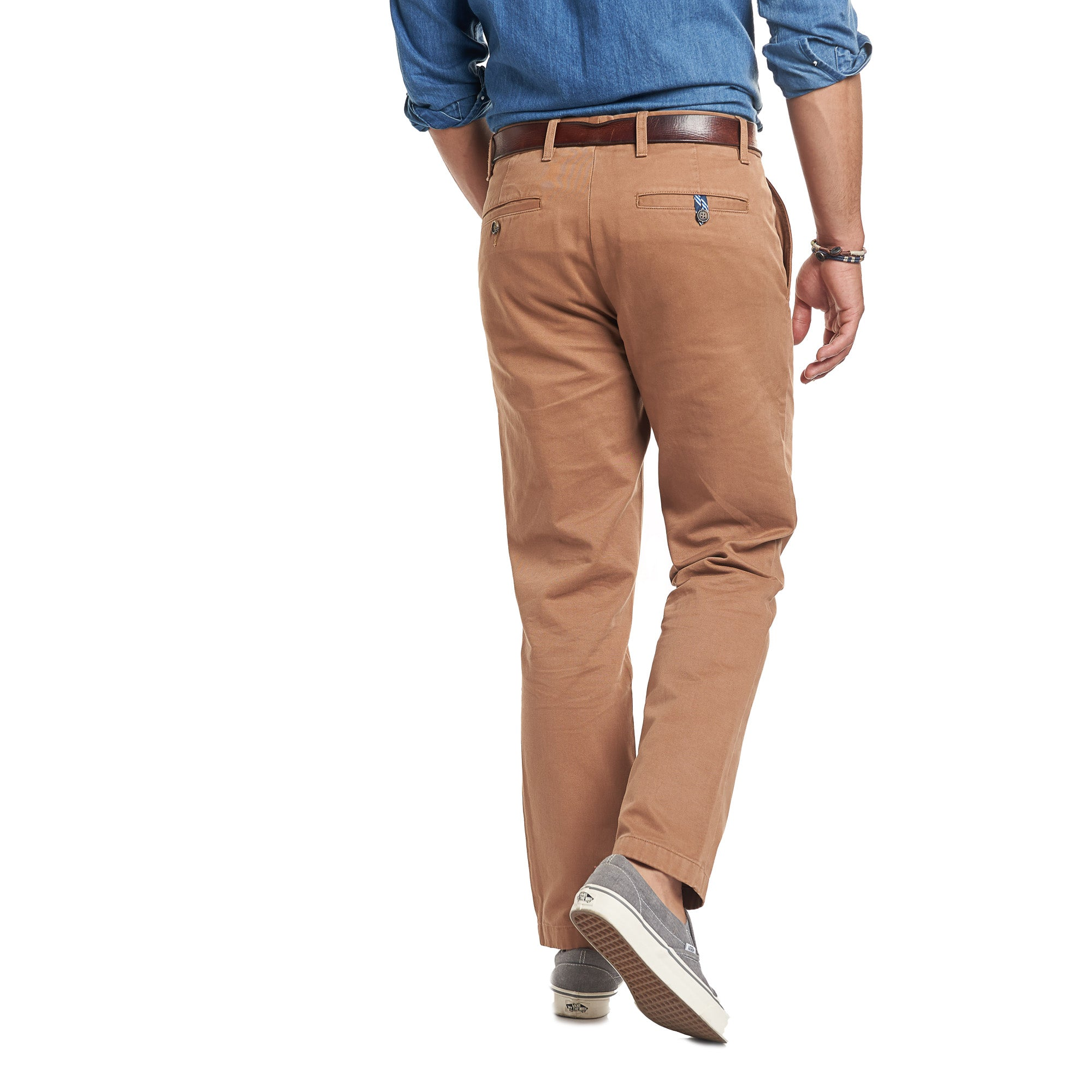Standard (Classic) Fit Chinos - Tobacco