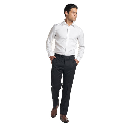 Non Iron Dress Shirt Slim Fit - White