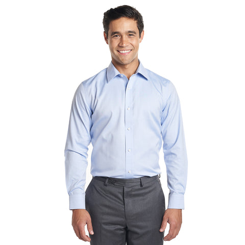 Non Iron Dress Shirt Standard Fit - Blue
