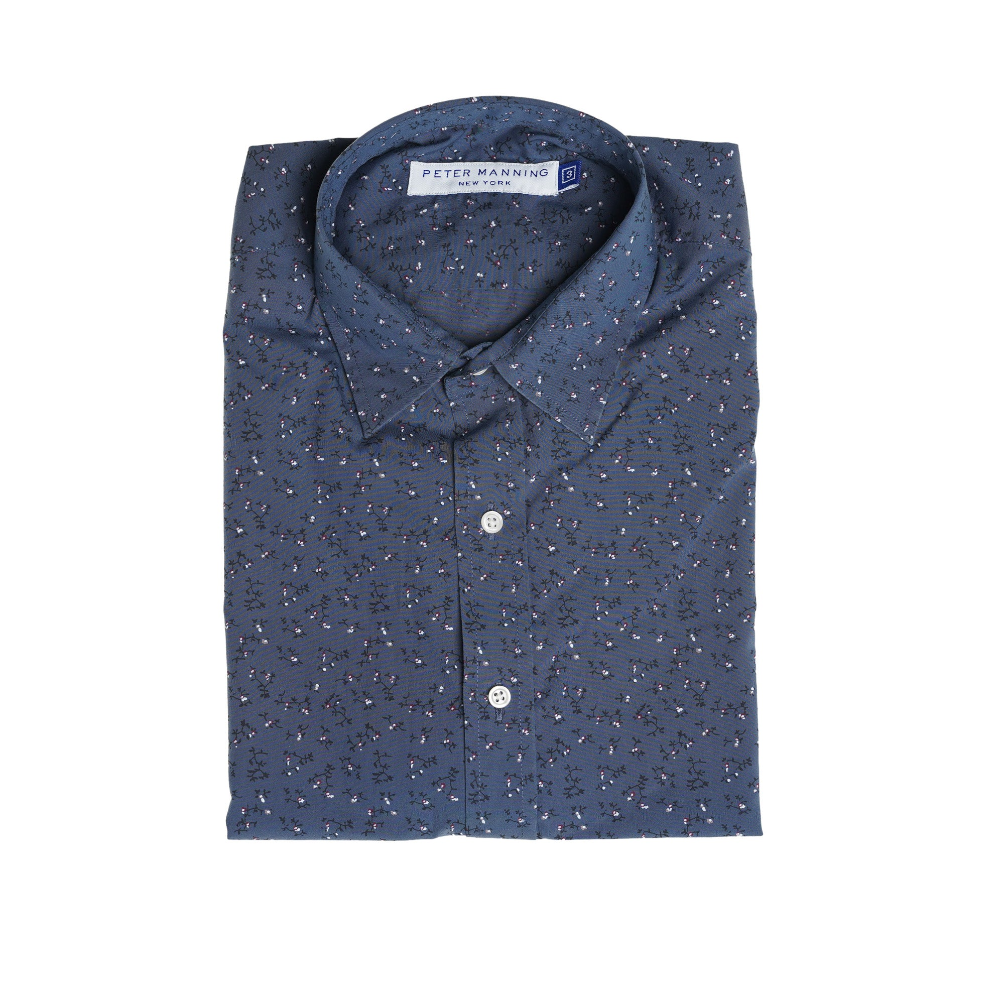 Weekend Printed Shirt - Indigo Flower