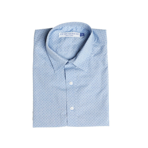 Weekend Printed Shirt - Blue Dot