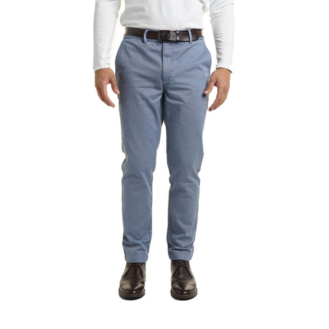 Classic Fit Chinos - Slate Blue