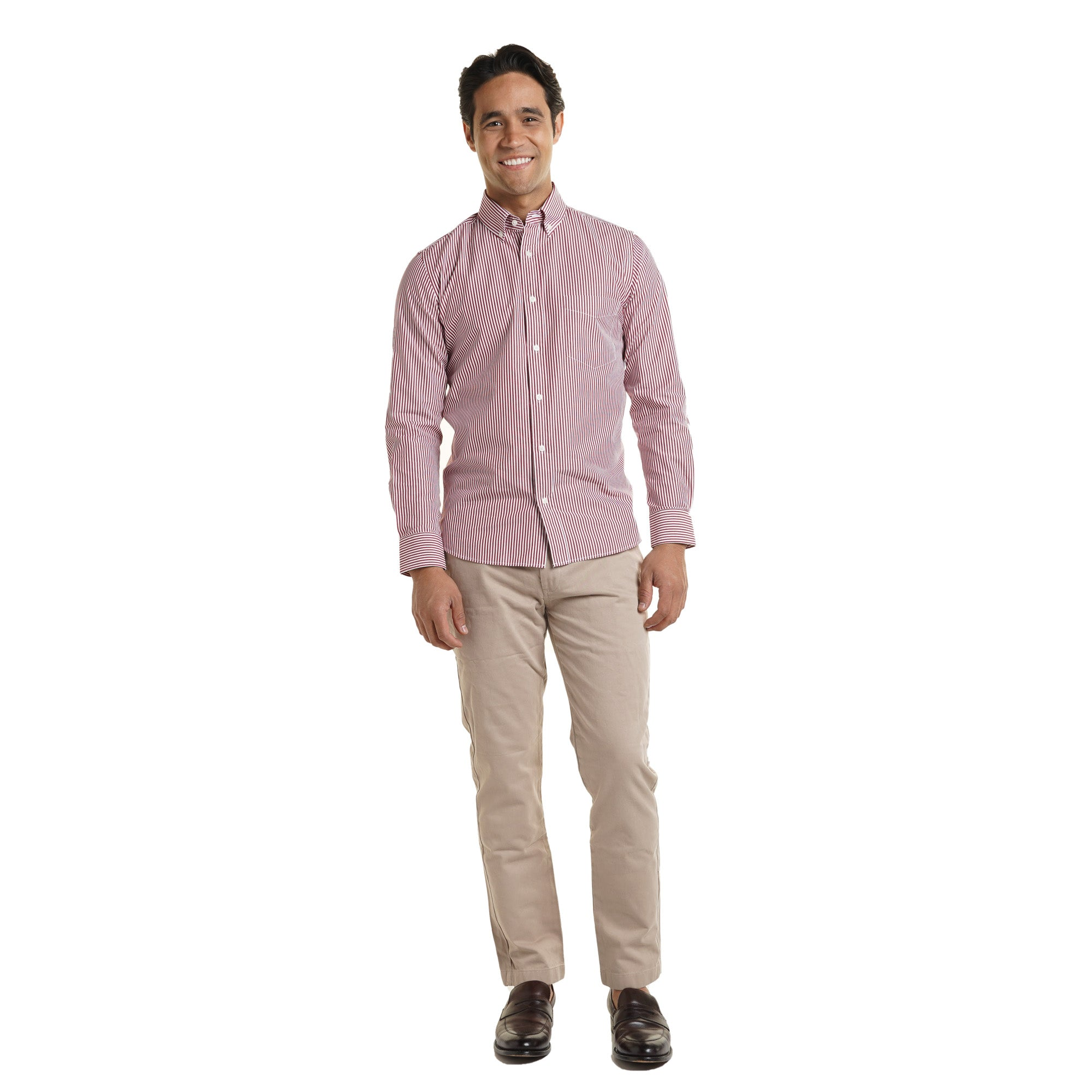 Everyday Shirts Slim Fit - Red University Stripe