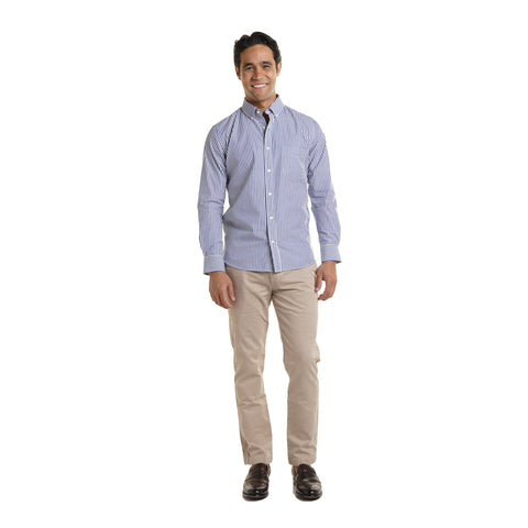 Everyday Shirts Standard Fit - Blue University Stripe