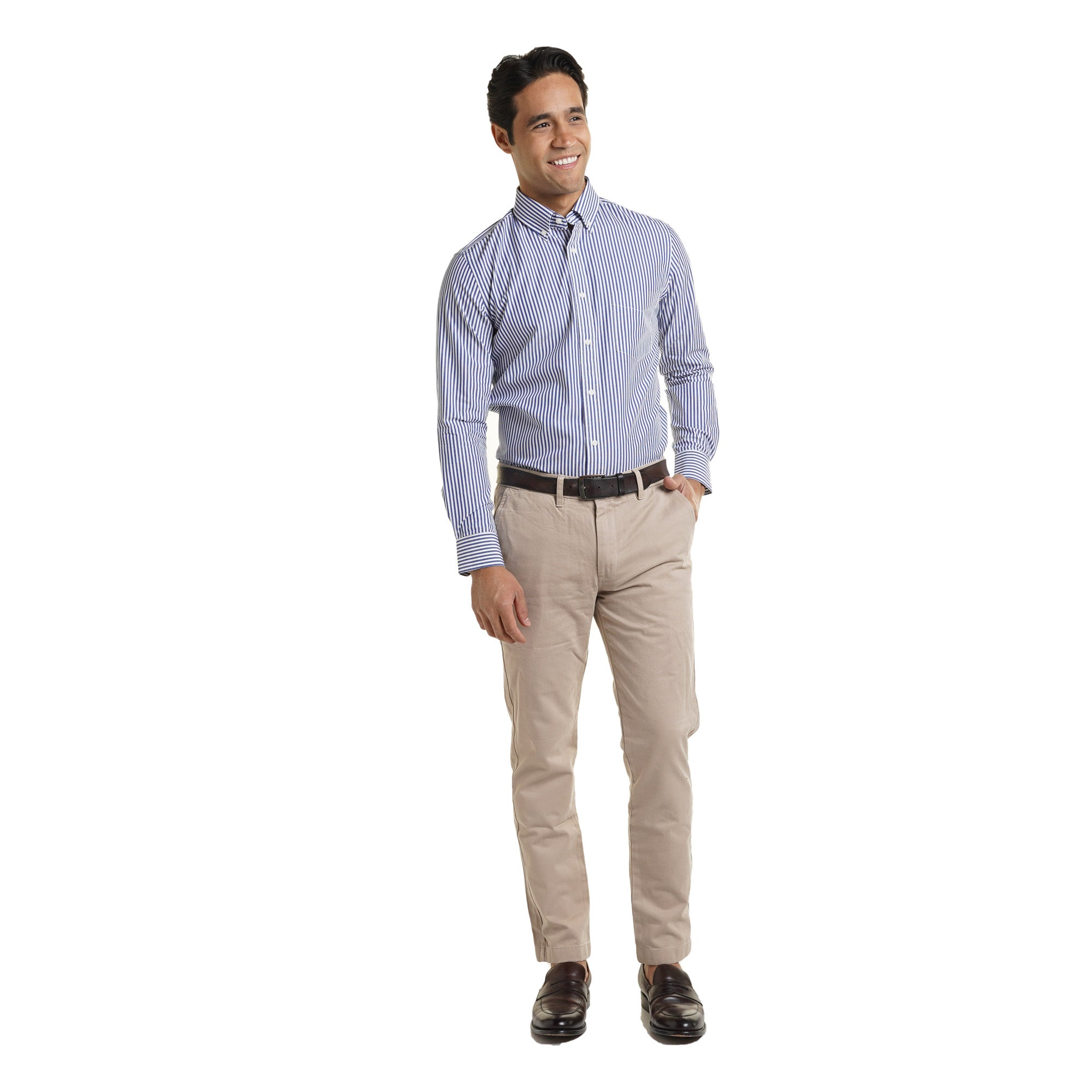 Everyday Shirts Slim Fit - Blue University Stripe