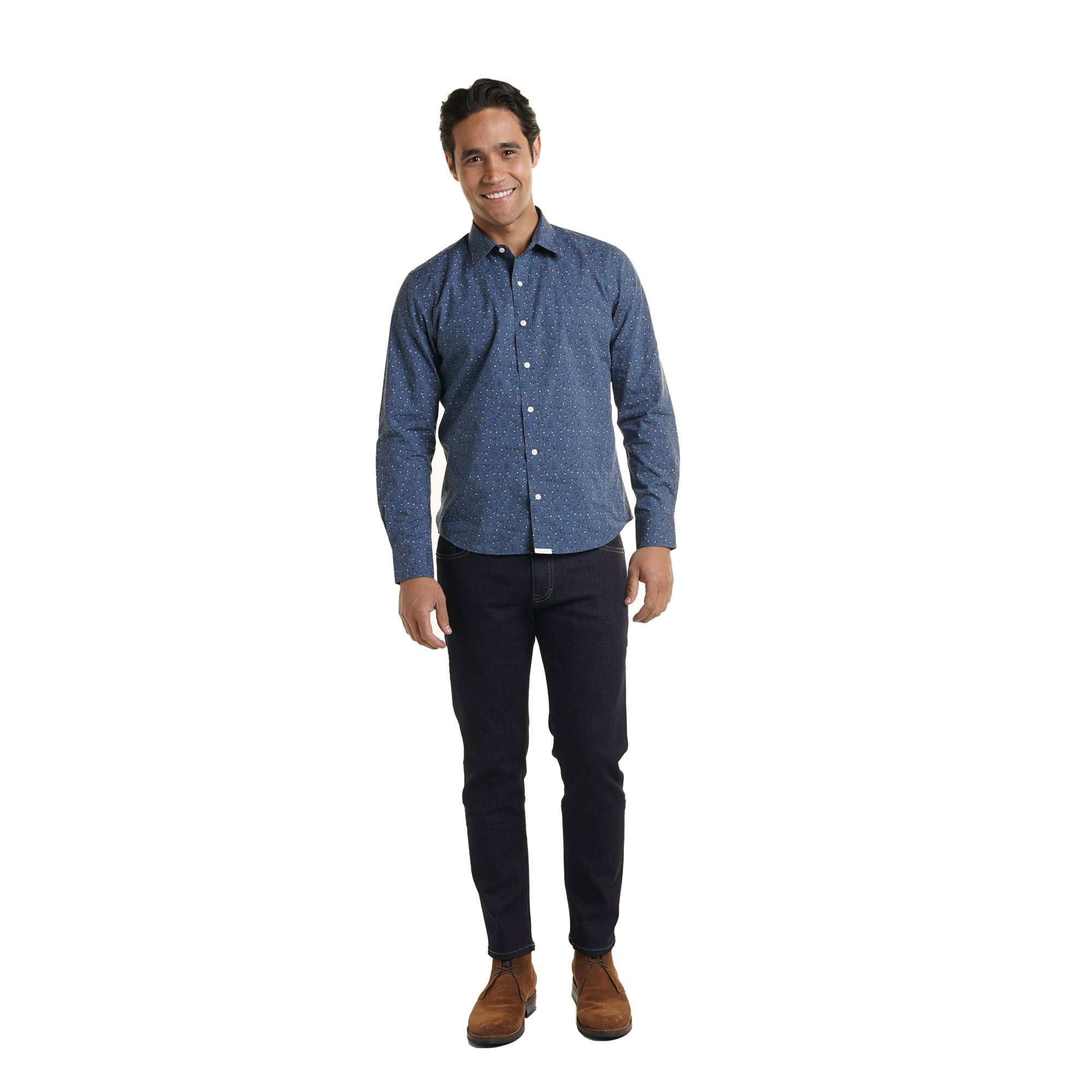 Weekend Printed Shirt Slim Fit - Indigo Flower