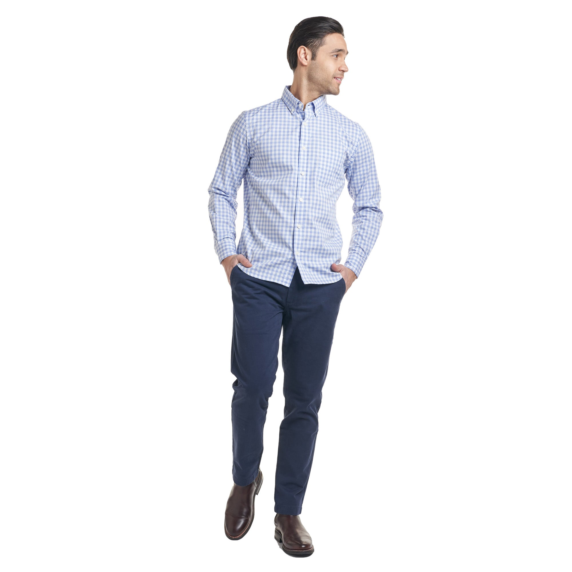 Everyday Oxford - Blue Tattersall