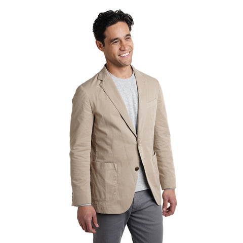 Unstructured Cotton Blazers - Tan