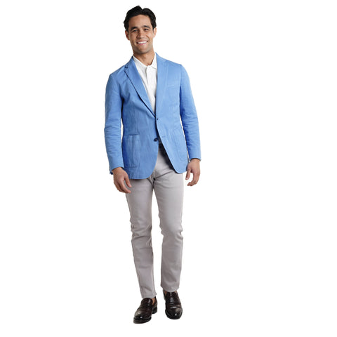 c97a9be9612 Unstructured Cotton Blazers - Blue